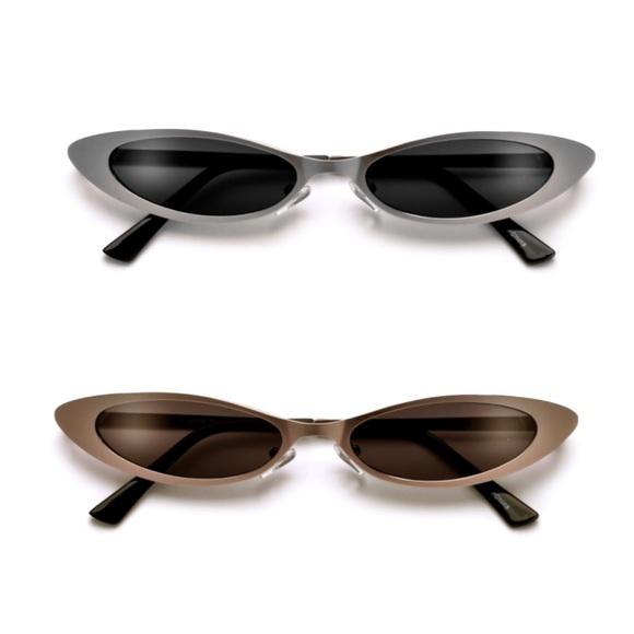 3337256ec39f3 Ultra Thin Metal Frame Cat Eye Sunglasses